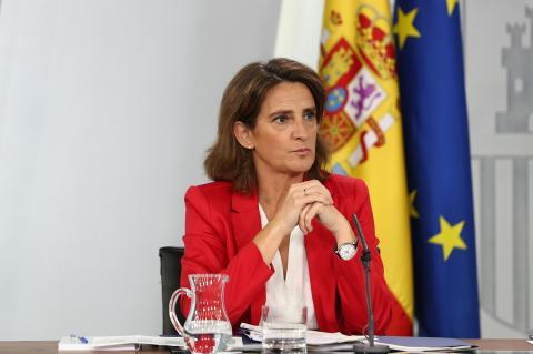 Foto de la ministra para la transición ecológica Teresa Ribera