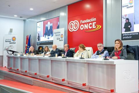 Foto durante la Asamblea General de la Plataforma del Tercer Sector