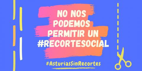imagen de la campaña Asturias sin recortes