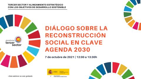 Imagen sobre el evento Diálogo sobre la reconstrucción social en clave Agenda 2030