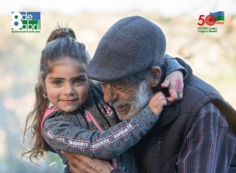 Cartel con motivo del día internacional del pueblo gitano