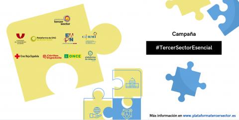 Cartel de la campaña #TercerSectorEsencial