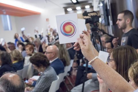 Foto durante una asamblea de la plataforma del tercer sector
