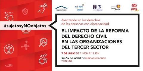 Cartela del evento El impacto de la reforma del derecho civil en las organizaciones del Tercer Sector
