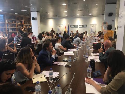 Foto durante la intervención de Antonio Garamendi