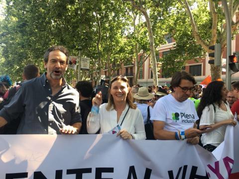 Foto durante la manifestación