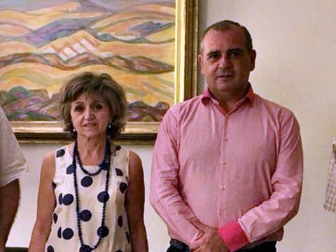 Foto de Luciano Poyato y María Luisa Carcedo