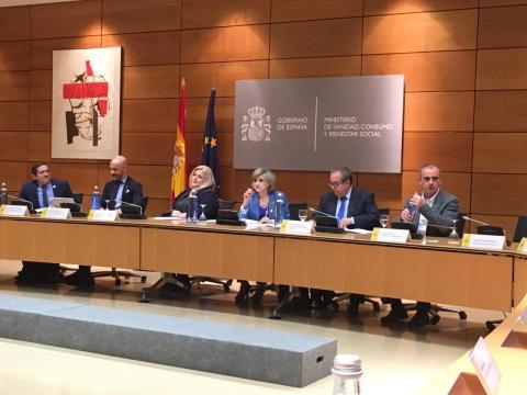 Foto durante la comisión de diálogo civil