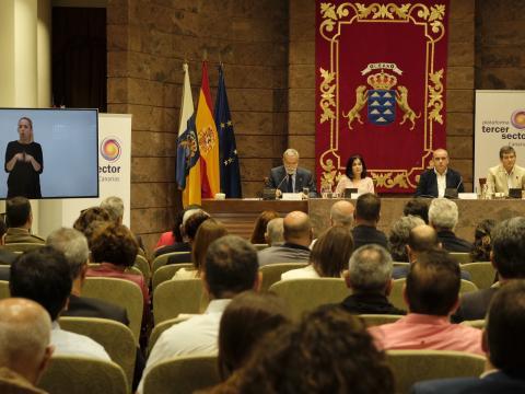 foto durante la presentación de la PTS Canarias