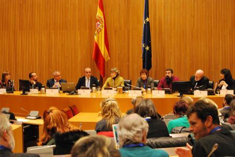 foto de la mesa inaugural del acto