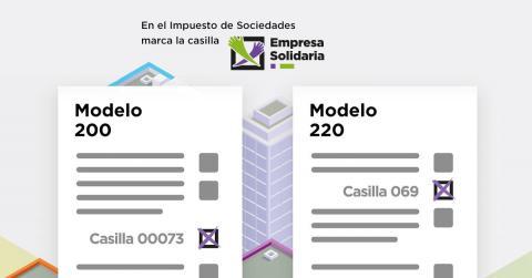 Imagen explicativa sobre dónde marcar la X Solidaria en el Impuesto de Sociedades