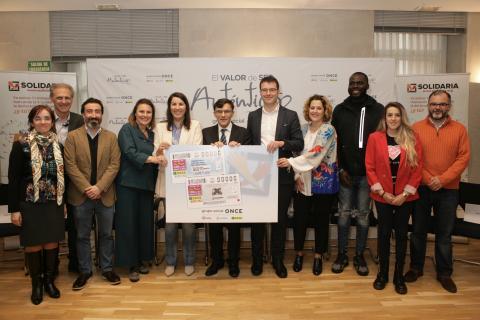 foto durante la Presentación de los cupones de la ONCE dedicados a la X Solidaria