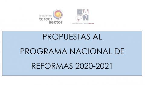 propuestas al Programa Nacional de Reformas 2020-2021