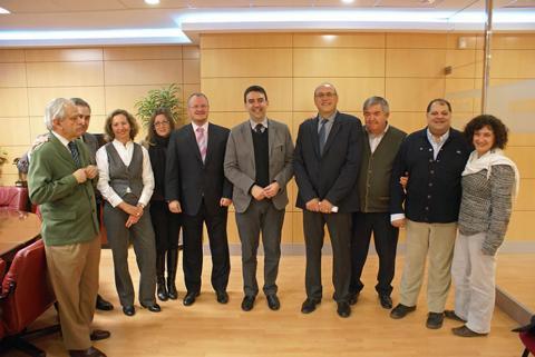 Imagen de la reunión con Mario Jiménez.