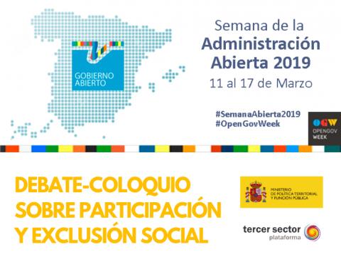 imagen con el título Debate-coloquio sobre participación y exclusión social