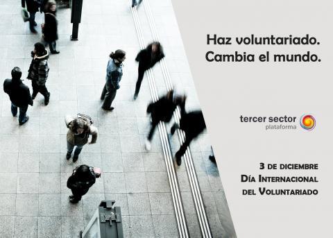 creatividad por el día del voluntariado