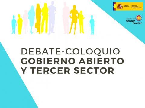 título debate coloquio gobierno abierto y tercer sector