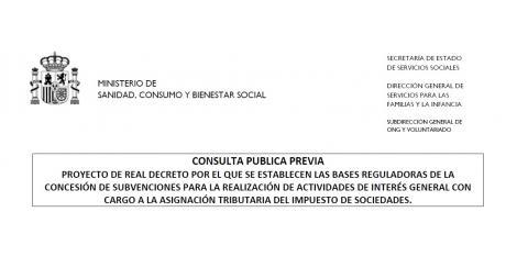imagen con el título de la consulta pública previa
