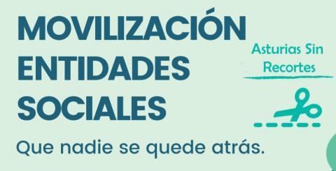 Imagen del cartel de movilización de entidades sociales en Asturias