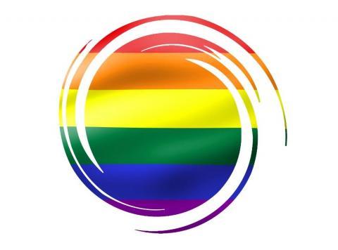 Logo de la PTS con los colores del Orgullo