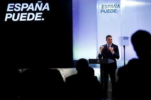 Foto durante la conferencia 'España puede. Recuperación, Transformación, Resiliencia'