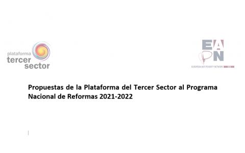 Propuestas de la Plataforma del Tercer Sector al Programa Nacional de Reformas 2021-2022