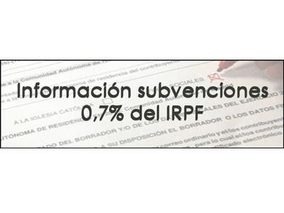 banner de la sección de subvenciones IRPF