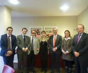 Foto de los asistentes a la reunión de la plataforma del tercer sector con el consejo general de la abogacía