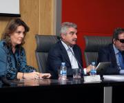 Sesión sobre la Ley del Tercer Sector de Acción Social. Elena Rodríguez, Miguel Cabra de Luna y Rafael de Lorenzo.