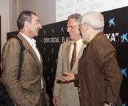 De izquierda a derecha: Sebastian Mora, Luis Rojas Marcos y Alejandro Rojas Marcos.