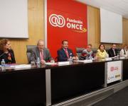 Sesión de clausura. Mar Amate, Juan Lara Crevillén, Ignacio Tremiño, Carlos Susías, Salomé Adroher, Silverio Agea, Carmen Comos y Elena Rodríguez.