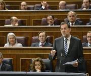 El Presidente del Gobierno, Mariano Rajoy, en una intervención en el Congreso de los Diputados