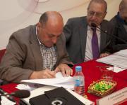 Eduardo Mateo (LARES), firma convenio entidad colaboradora.