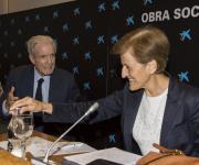 De izquierda a derecha: Antonio Garrigues y Adela Cortina