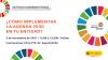 Cartel promocional del evento con el título ¿Cómo implementar la Agenda 2030 en tu entidad?