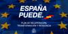 Imagen con el texto 'España puede, Plan de Recuperación, transformación y resiliencia'